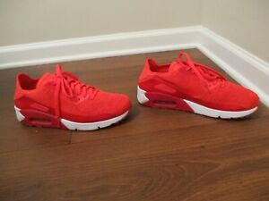 Mens Nike Air Max 90 Ultra 2.0 Flyknit Crimson//White 875943 600 Size UK 10