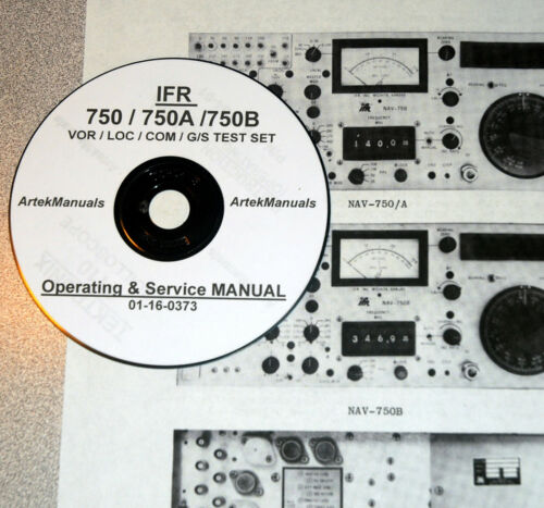 750A //750B VOR-LOC-COM-G//S Test Set Operating /& Service Manual IFR 750