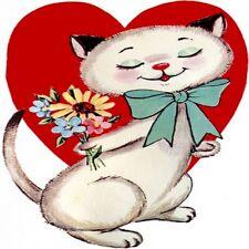 30 Custom Valentine Cat Personalized Address Labels