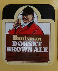 VINTAGE BRITISH BEER LABEL - HUNTSMAN DORSET BROWN ALE 275ML 9.68 FL OZ
