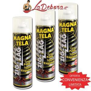 3-PIECES-Insektizid-Spinnen-ZIG-ZAG-MAGNATELA-500ML-spruehen-Spinnwebe