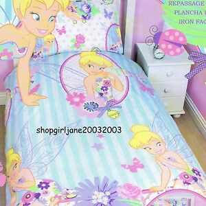 Disney Fairies Tinkerbell Cherish Cworld Single Twin Bed Quilt