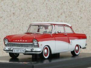 FORD Taunus 17M - 1957 - red / white - Premium X 1:43