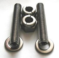 """3/8 UNC x 2"""" Stainless Steel Exhaust Studs And Lock Nuts Ford Land Rover Chevy"""