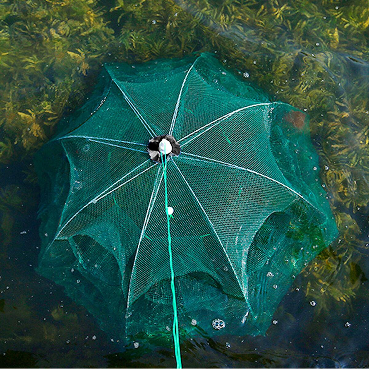 foldable fishing bait trap crab net crawdad