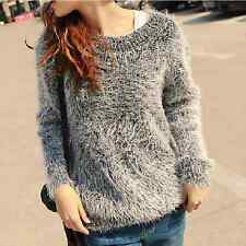 New Women Girl Fashion Korean Winter Fall Long Sleeve Sweater Top Casual Back