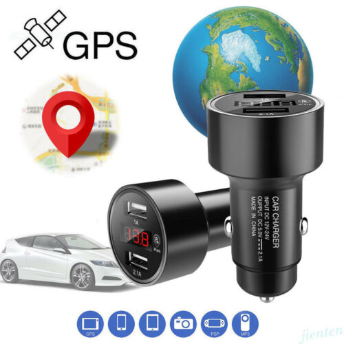 Car GPS Tracker Locator Real Time Tracking Device Dual USB Charger Voltmeter ILO
