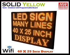 40x25 Inch Yellow Wifi Semi Outdoor Indoor Led Scrolling Sign Super Fast Ship