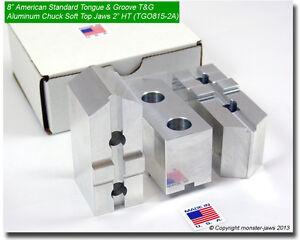 8-034-American-Standard-Tongue-amp-Groove-T-amp-G-Aluminum-Chuck-Soft-Top-Jaws-2-0-034-HT