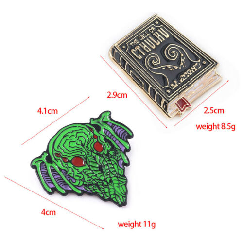 Lovecraft Cthulhu Mythos Badge Brooch Necronomicon The Call Of Cthulhu Lapel Pin
