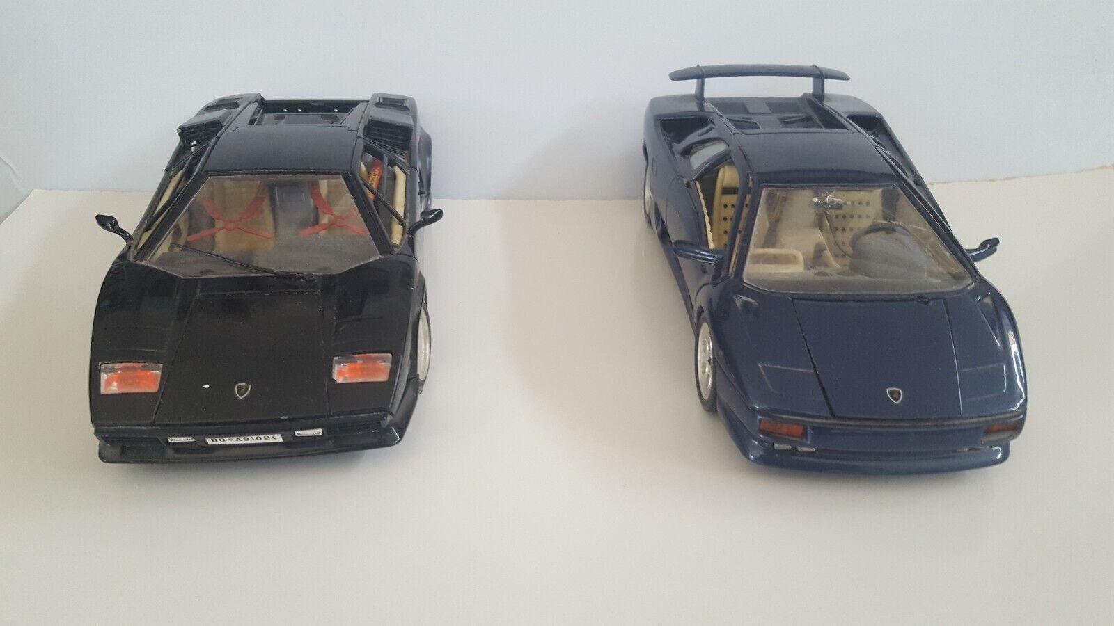 Burago Lamborghinis Diablo (1990) and Contach (1988) Excellent condition