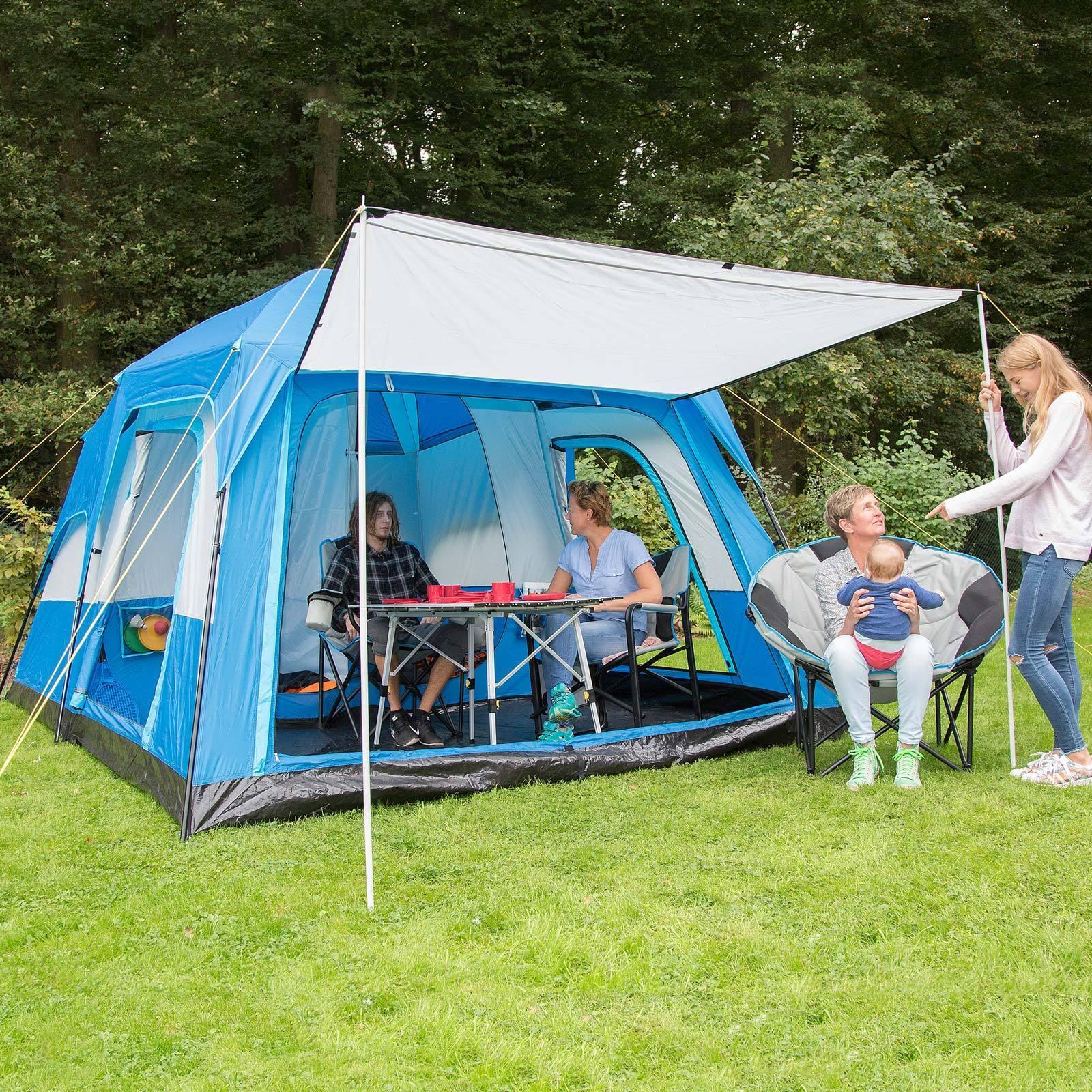 Skandika Tonsberg 5 personas familias tienda de camping tienda de carpa doble pared carpa de azul Nuevo 2e1e14