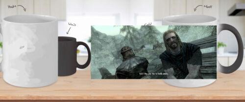 Skyrim Heat Changing Mug Heat Sensitive Skyrim Mug 11oz You're finally awake Mug