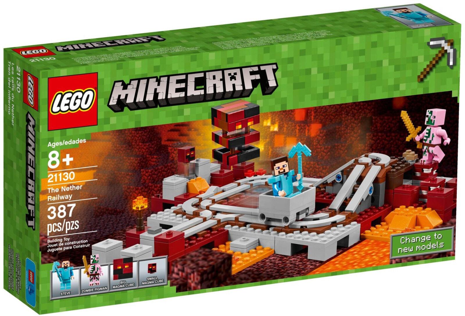 Lego Minecraft - 21130 la Nether-ferrocarril The Nether Railway-nuevo embalaje original