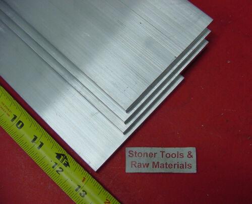 "4 pieces 1//4/"" X 6/"" ALUMINUM 6061 FLAT BAR 13/"" long T6511 .250/"" Plate Mill Stock"