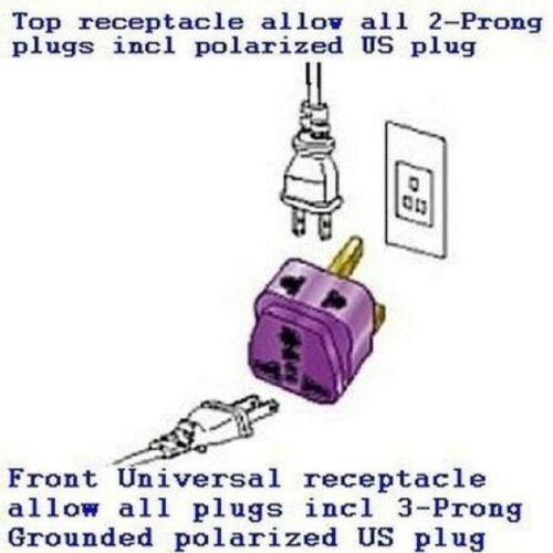 Type E//F 2-Port /& SURGE POWER Travel Adapter Plug SOUTH KOREA MOROCCO TUNISIA
