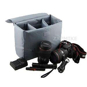 Nueva partición Relleno acolchado caso de la protección Para Nikon D3100 D3200 D5100 D5200