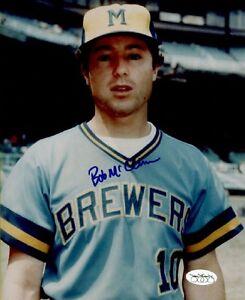 1977-86 Milwaukee Brewers Bob McClure Autographed 8x10 Color Photo JSA Hologram