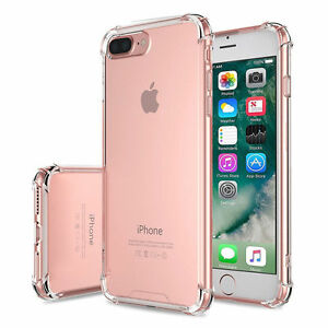 hot sale online 8211c 20f22 Details about For Apple iPhone 8 7 Case Clear Hybrid Slim Shockproof Soft  TPU Bumper Case