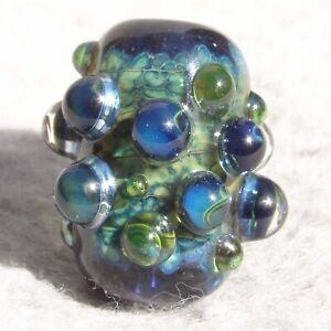 ACADIA Handmade Art Glass Focal Bead Flaming Fools Lampwork Art Glass SRA