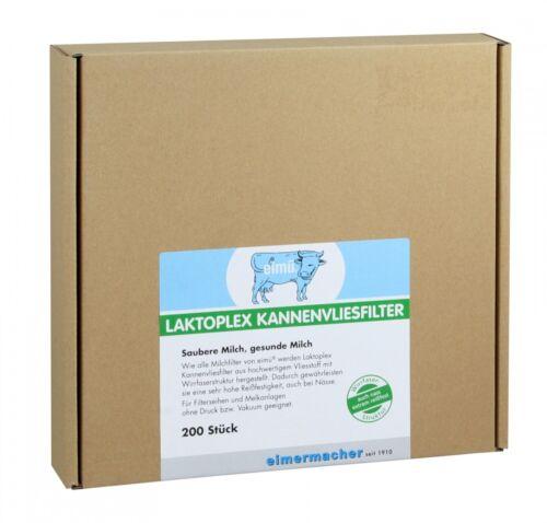Filterscheiben Milchfilter 200x eimü® Laktoplex Kannenvliesfilter Ø200mm