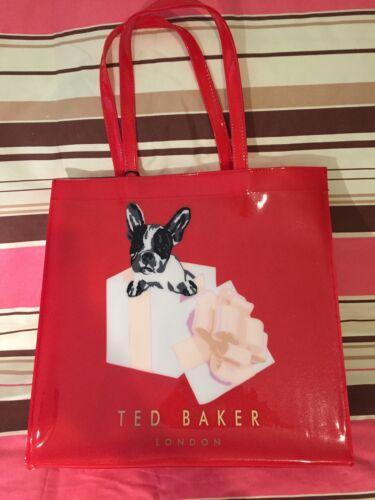 In autentico Baker rosso Cotton Grande A 100 Box Bag Ted Shopper Z6SxqwEEC