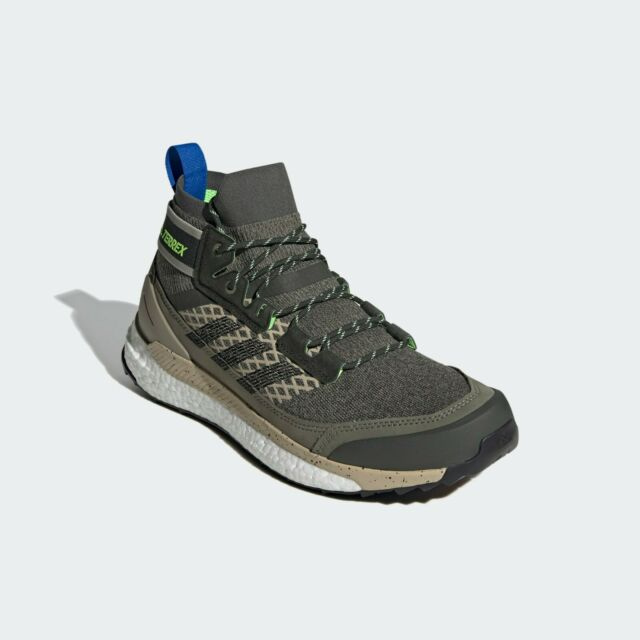 NEW ADIDAS TERREX FREE HIKER BLUE HIKING SHOES SNEAKERS MENS LEGACY GREEN