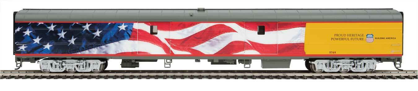Walthers Proto HO Scale 85' ACF Baggage voiture Union Pacific UP Heritage Flag  5769