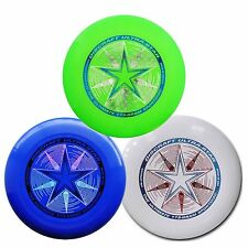NEW Discraft ULTRA-STAR 175g Ultimate Frisbee Disc (3 Pack) BLUE/GREEN/WHITE