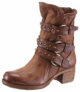 Details zu A.S.98 (AirStep) Boots für Damen Stiefel Stiefelette (BRAUN) Leder Gr 41