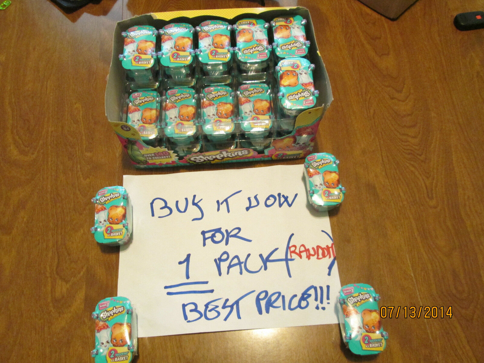 SHOPKINS Season 3 BLIND BASKET HIDDEN 2 Pack For Baby Ultra Rarelimited Edition