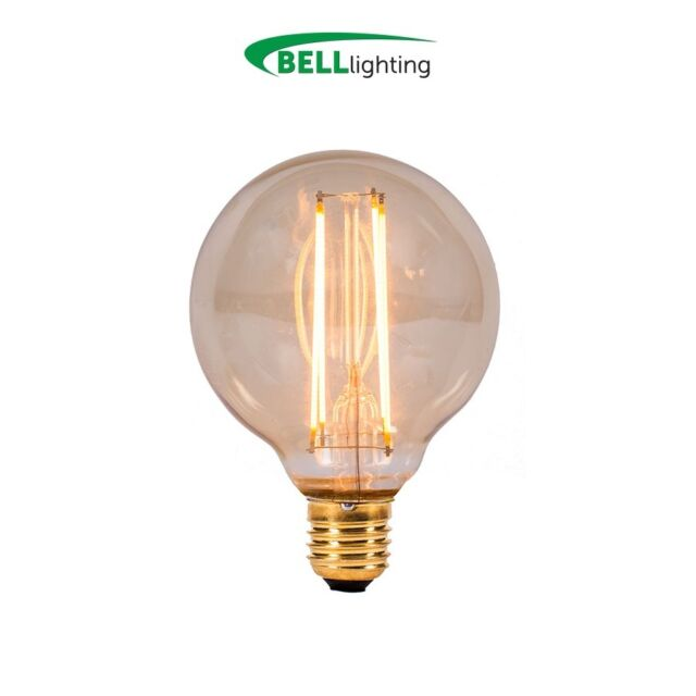 4w LED Vintage Globe ES Amber 2000k Antique Bulb (BELL 01464) (28w Replacement)