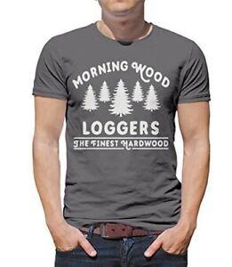 bb561616f0 Shirts By Sarah Men's Funny Lumberjack T-Shirt Morning Wood Loggers ...