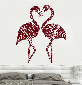 Details About Vinyl Wall Decal Flamingo Abstract Exotic Birds Room Decor Stickers 1931ig