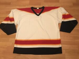 reputable site ca2e9 c976d 90s VTG Rare Blank Athletic Knit Carolina Panthers NHL ...