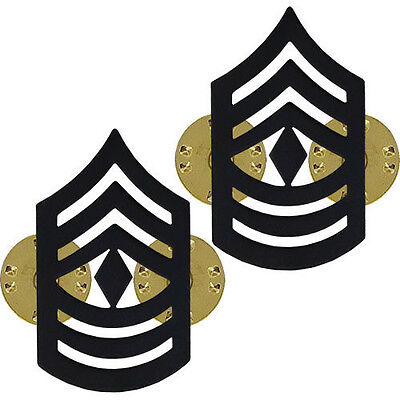 subdued Army USMC Marines E-8 First Sergeant 1st sgt Chevrons metal 1 PAIR