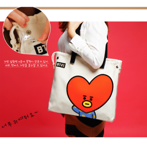 BTS BT21 Official Authentic MD PVC Shoulder Bag Tote Bag 7 Characters