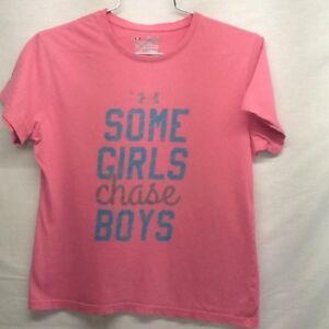 boys pink under armour shirt