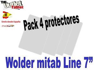 Pack-4-Protectores-pantalla-para-Tablet-Wolder-mitab-Line-7-034-universal