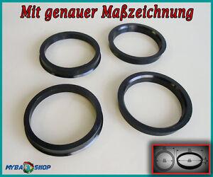 Borbet anillas de centrado 64 a 57,1 SEAT SKODA VW AUDI