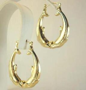 18K-Gold-Plated-Dolphin-Earrings-LIFETIME-WARRANTY
