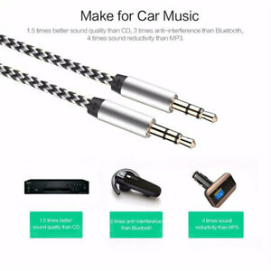 1m-Nylon-Aux-Cable-3-5-mm-to-3-5mm-Audio-Cable-Male-to-Male-Gold-Plated-Car-Aux