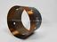 1pc 75mm Fiberglass skeleton Bass voice coil 1-layer Round wire 6ohm 550-850W