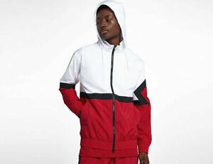 1fd6fa89099e5d Mens Air Jordan Diamond Track Jacket AQ2683-100 White Red NEW Size ...