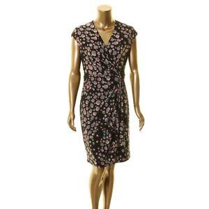 Anne Klein New Women S Surplice Printed Sheath Dress Tedo
