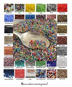 TINY-BEADS-11-0-Czech-10-Grams-Glass-Seed-Beads-PICK-COLOR