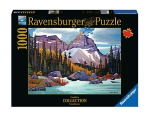 "NEW RAVENSBURGER Jigsaw Puzzle 1000 Pieces ""Cathedral Mountain, Canada"""
