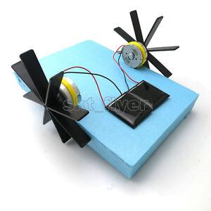 Solar Boat Toy Kit Propeller Motor Shaft Diy Model Hobby Learning School Kids Ebay