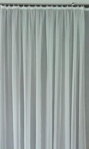 Rideau store voile hauteur 100 cm Rideau Blanc
