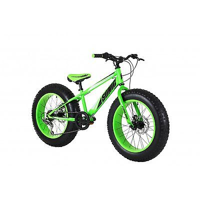 "Sonic Bulk 20"" Wheel Fat Tyre Boys Bike - Black/Green"